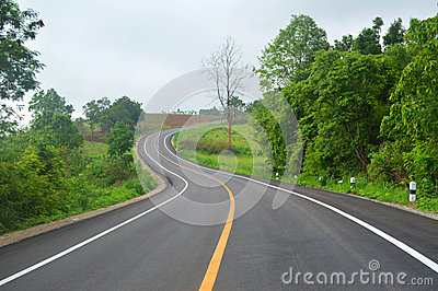 Curve in the road