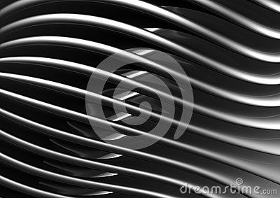 Curve shape pattern metal background