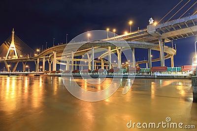 Curve of suspension bridge