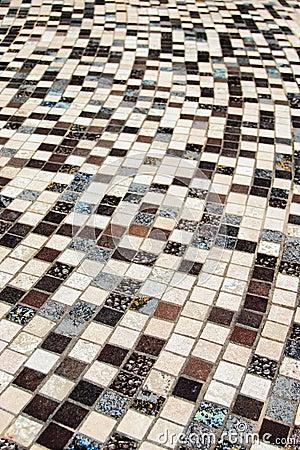 Curved ceramic tile