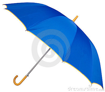 Curved handle golf umbrella