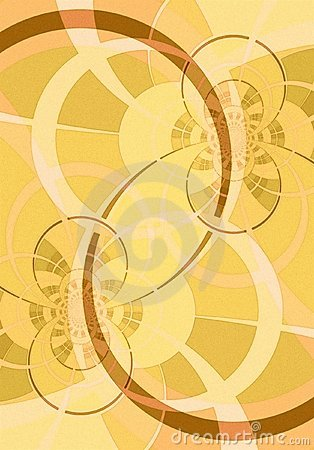 Curved Lines and Circles Gold