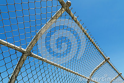 Curved mesh fence