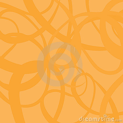 Curved orange vector background