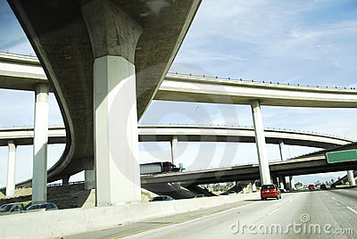 Curved Overpass America Interstate Freeway System