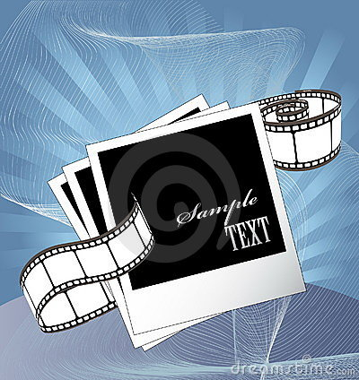 Curved photographic film and film blanks