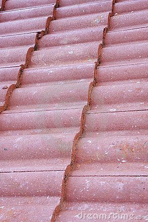 Curved Red Clay Ceiling Tiles