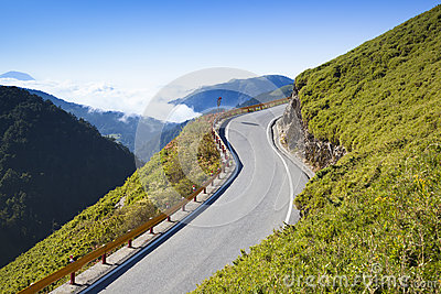 Curved Road in the mountain
