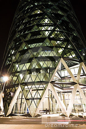 Curved structure at night