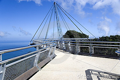 Curved Suspension Bridge