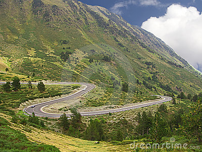 Curves of a road in the mountain