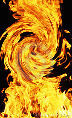 Curving fire