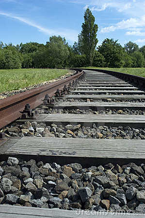Free Curving Railroad Track Royalty Free Stock Photos - 1594478