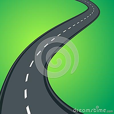 Free Curvy Asphalt Road Stock Image - 8510341
