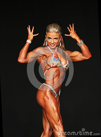 Free Curvy Blonde Bodybuilder Royalty Free Stock Image - 76593176