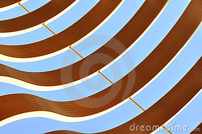 Curvy graphic abstract pattern