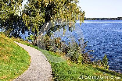 Curvy path.