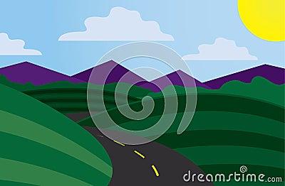 Curvy Road Scene