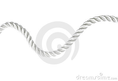 Curvy rope isolated