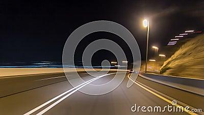 Curvy väg till och med hyperlapsen för Jebel Hafeet vägtimelapse, Al Ain, Förenade Arabemiraten arkivfilmer
