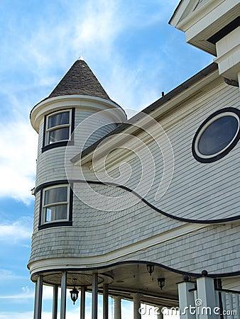 Free Curvy Victorian Seaside Home, NJ Royalty Free Stock Photo - 4510355