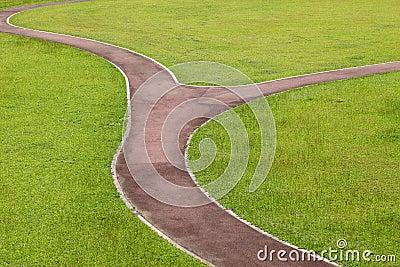 Curvy walk way