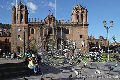Cusco cathedral Editorial Photography
