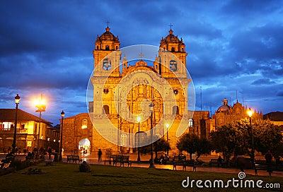 Cusco cathedral in Peru