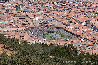 Cusco city aerial