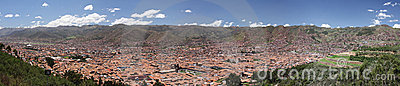 Cusco ( Cuzco ) city panorama