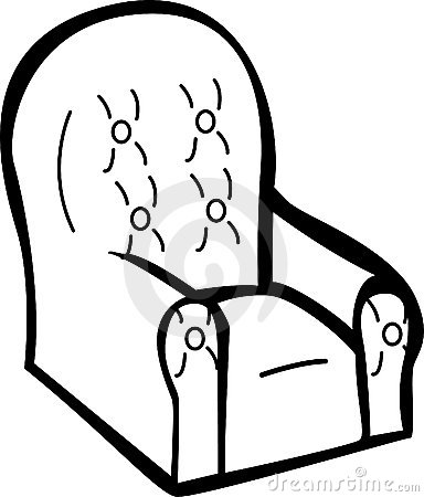 Cushioned armchair vector illustration