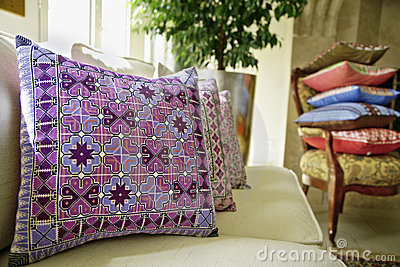 Cushions in living room