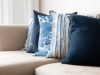 Cushions on a sofa