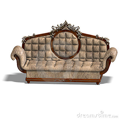 Cushy sofa of louis XV.