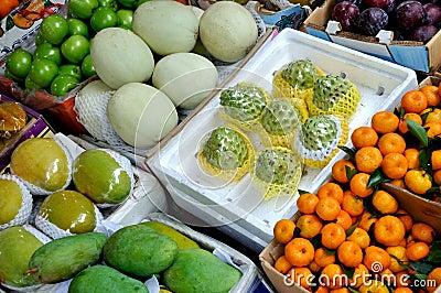 Custard apple and various fruit