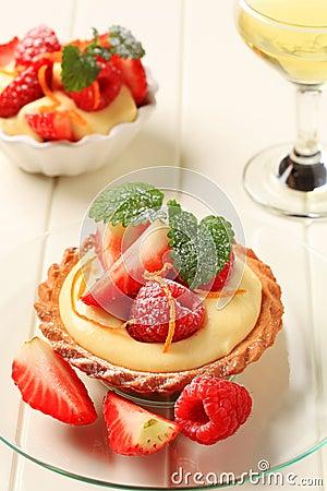 Free Custard Tart With Fruit Royalty Free Stock Image - 19941736