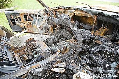 Custom car fire interior