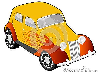 Custom car illustration