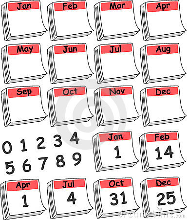 Custom Day Calendar (Red)