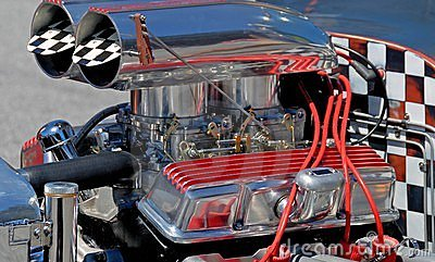Custom hot rod car engine Editorial Stock Photo