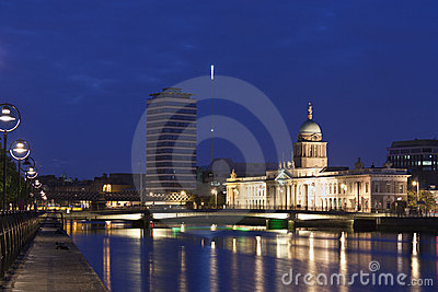 Custom house in blue hours