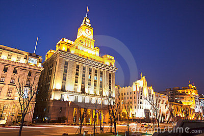 Custom house at bund of Shanghai 2 Editorial Image