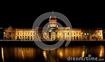 The Custom House Dublin Editorial Image