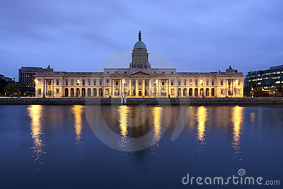 Custom House in Dublin Ireland