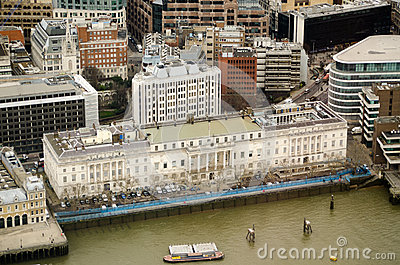Custom House, London, from above