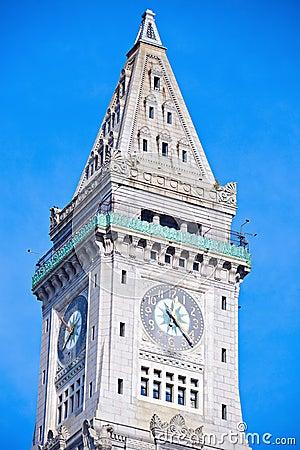 Custom House Tower in the center of Boston