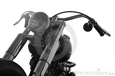 Custom motorbike on a white background
