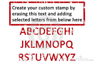 Custom  rubberstamp