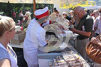 Customer buying ice cream Editorial Stock Photo