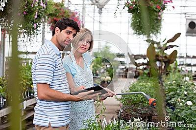 Customer with Digital Tablet